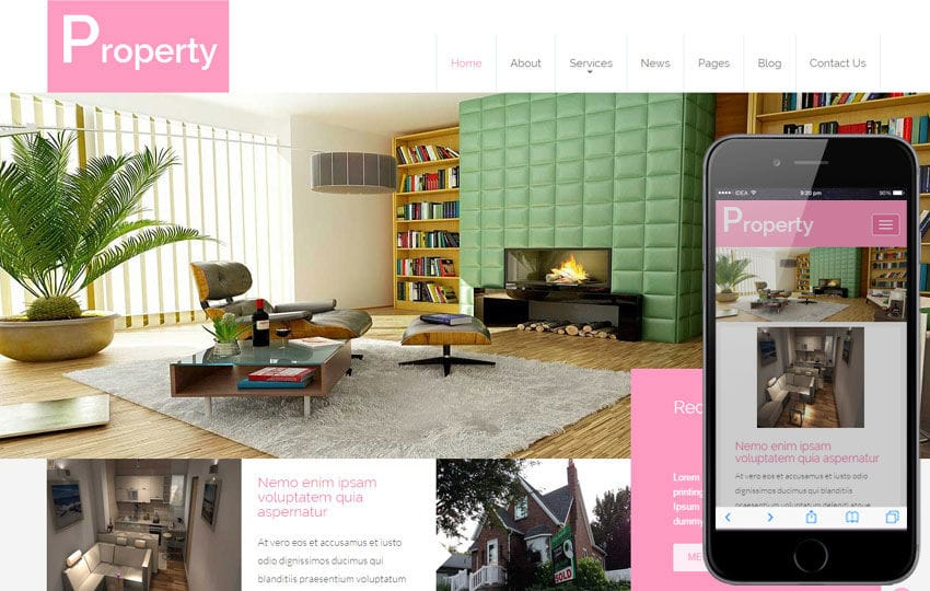 Property a Real Estate Category Flat Bootstrap Responsive Web Template Mobile website template Free