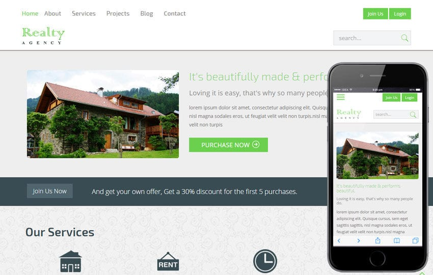 Realty a Real Estate Category Flat Bootstrap Responsive Web Template Mobile website template Free