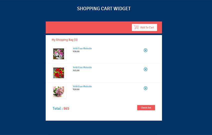 Shopping Cart Responsive Widget Template By Wlayouts - Responsive shopping cart template
