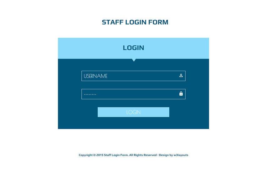 best login page design templates 2018. Black Bedroom Furniture Sets. Home Design Ideas