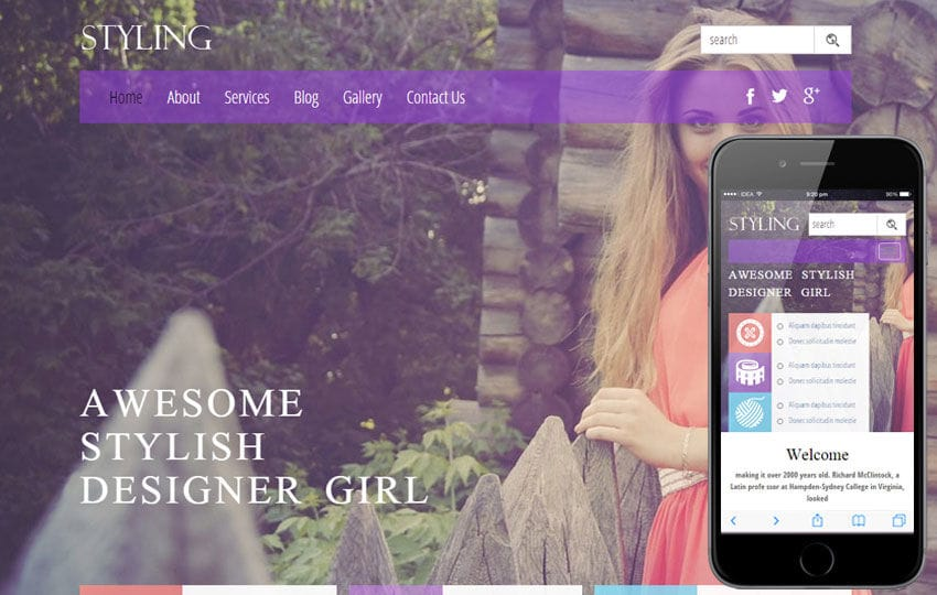 Styling a Fashion Category Flat Bootstrap Responsive Web Template Mobile website template Free