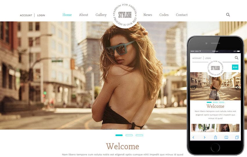 Stylish a Fashion Category Flat Bootstrap Responsive Web Template Mobile website template Free