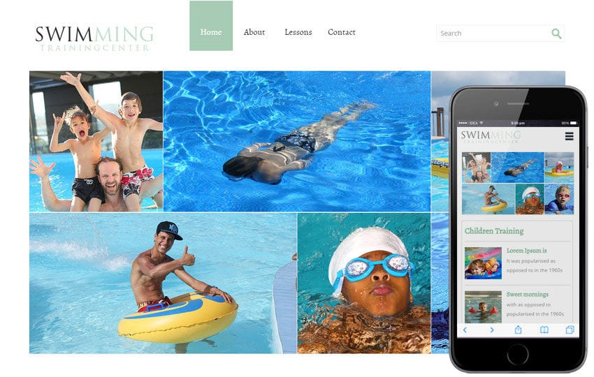 Swimming a Sports Category Flat Bootstrap Responsive Web Template Mobile website template Free