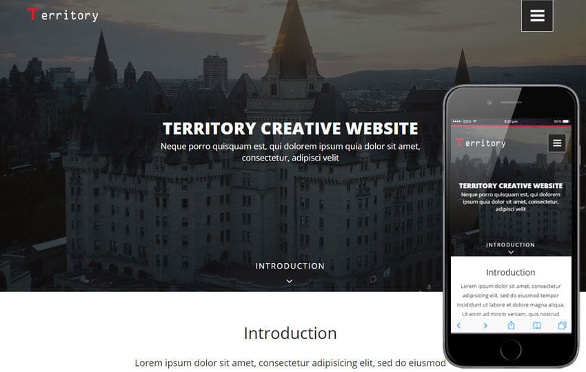 Territory a Real Estate Category Flat Bootstrap Responsive Web Template Mobile website template Free