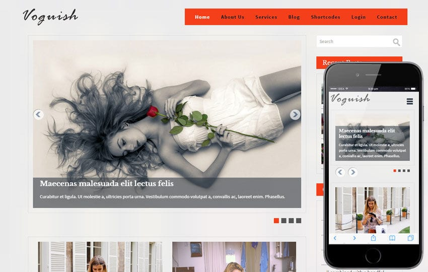 Voguish a Blogging Category Flat Bootstrap Responsive Web Template Mobile website template Free