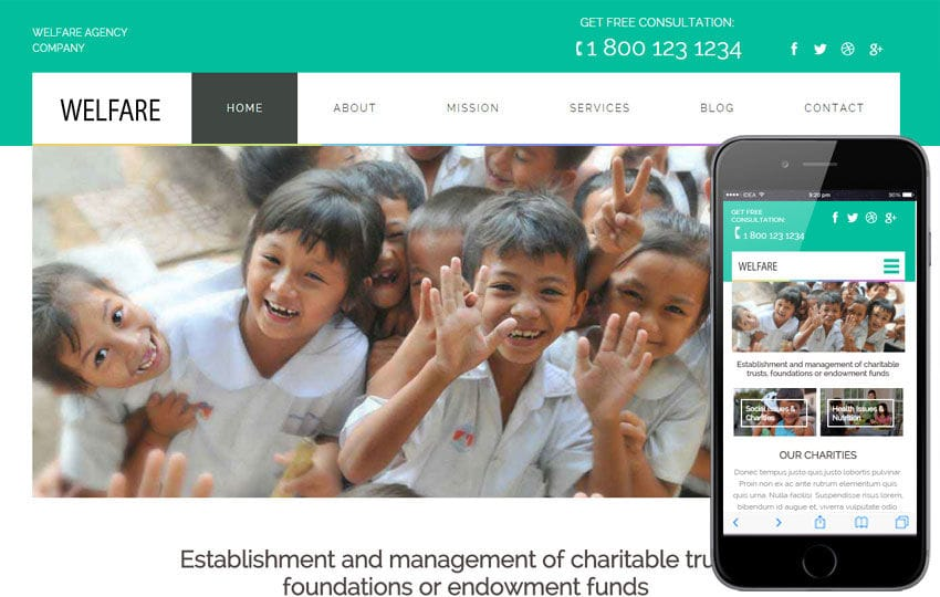 Welfare a Charity Category Flat Bootstrap Responsive Web Template by ...