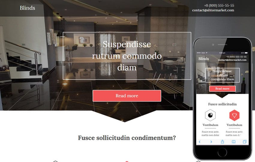 Blinds a Interior Architects Multipurpose Flat Bootstrap Responsive Web Template Mobile website template Free