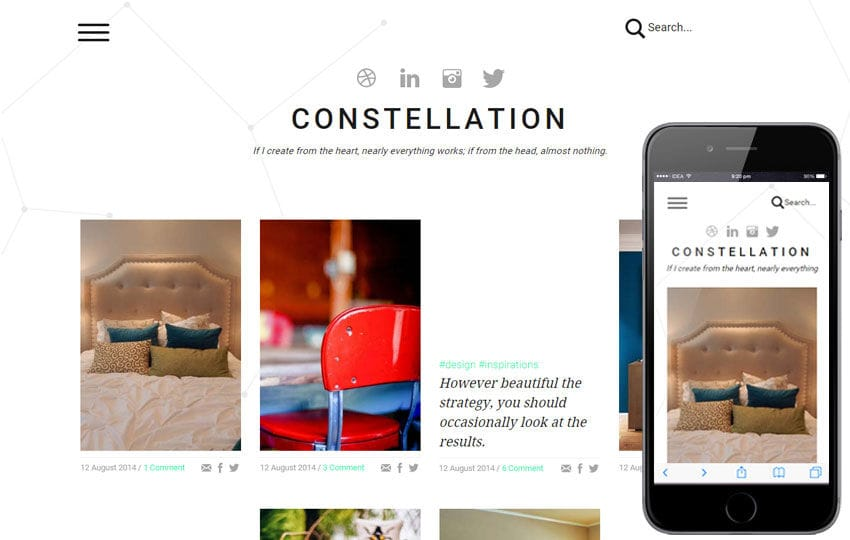 Constellation a Interior Architects Multipurpose Flat Bootstrap Responsive Web Template Mobile website template Free