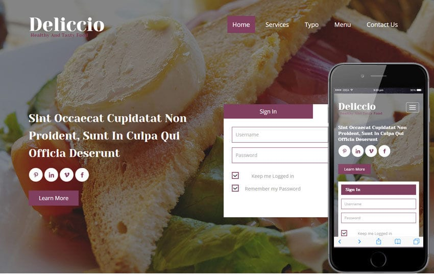 Deliccio a Hotel Category Flat Bootstrap Responsive Web Template Mobile website template Free