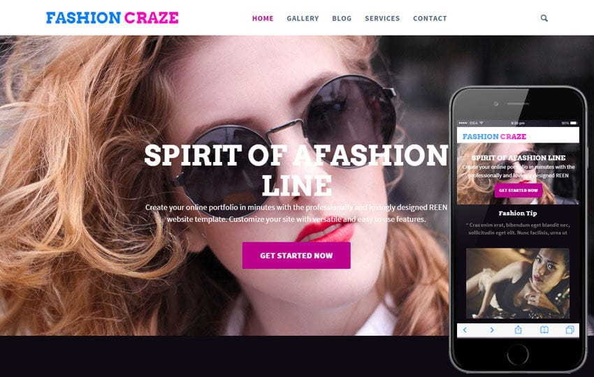 Fashion Craze a Fashion Category Flat Bootstrap Responsive Web Template Mobile website template Free