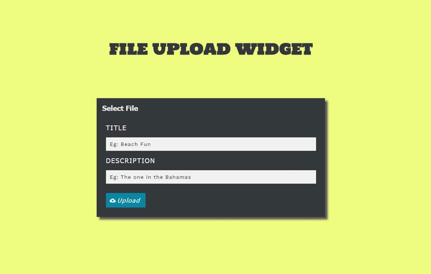 File Upload Widget Responsive Template by w3layouts