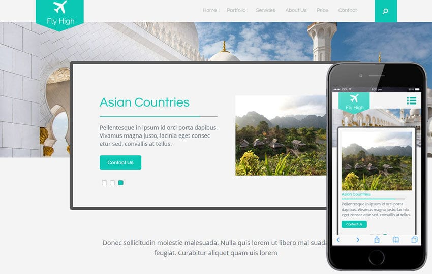 Fly High a Travel Guide Flat Bootstrap Responsive web template Mobile website template Free