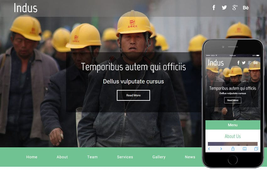 Indus a Industrial Category Flat Bootstrap Responsive Web Template Mobile website template Free