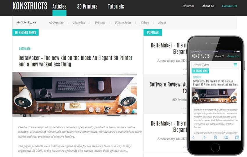 Konstructs a Blogging Category Flat Bootstrap Responsive Web ...