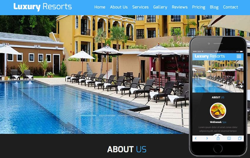 Luxury Resorts a Hotel Category Flat Bootstrap Responsive Web Template Mobile website template Free