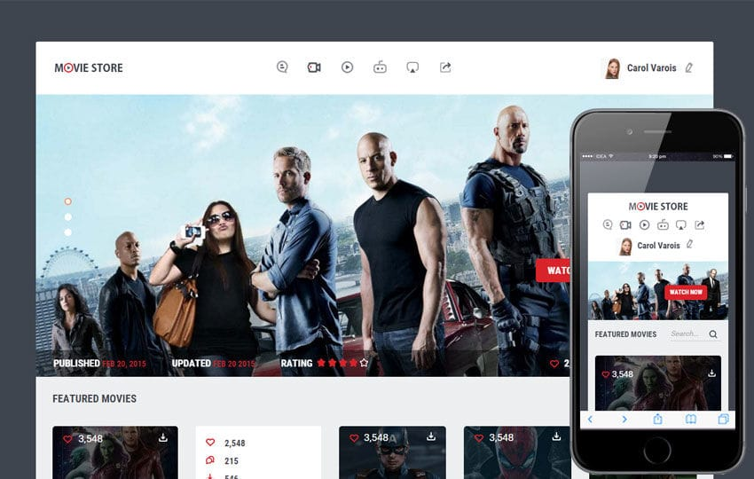 Movie Store a Entertainment Category Flat Bootstrap Responsive Web ...