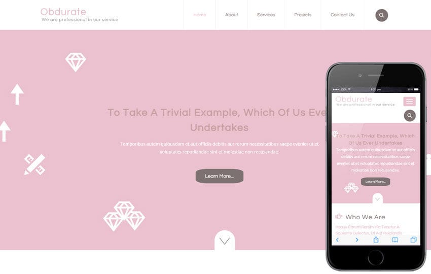 Obdurate a Industrial Category Flat Bootstrap Responsive Web Template Mobile website template Free
