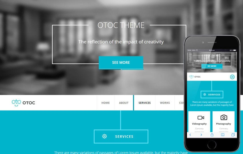 Otoc a Corporate Business Flat Bootstrap Responsive Web Template Mobile website template Free