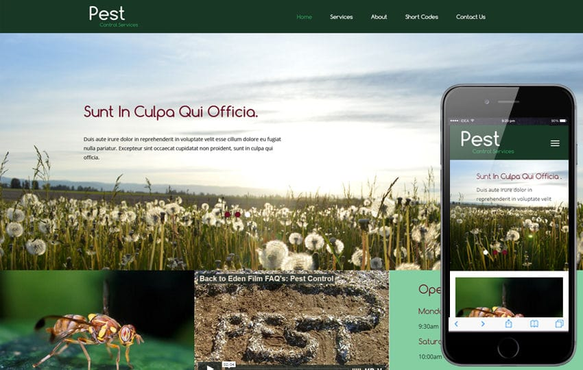 Pest a Animals Category Flat Bootstrap Responsive Web Template Mobile website template Free