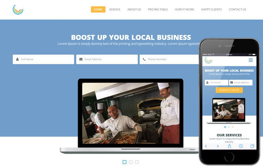 Pie a Corporate Multipurpose Flat Bootstrap Responsive Web Template Mobile website template Free