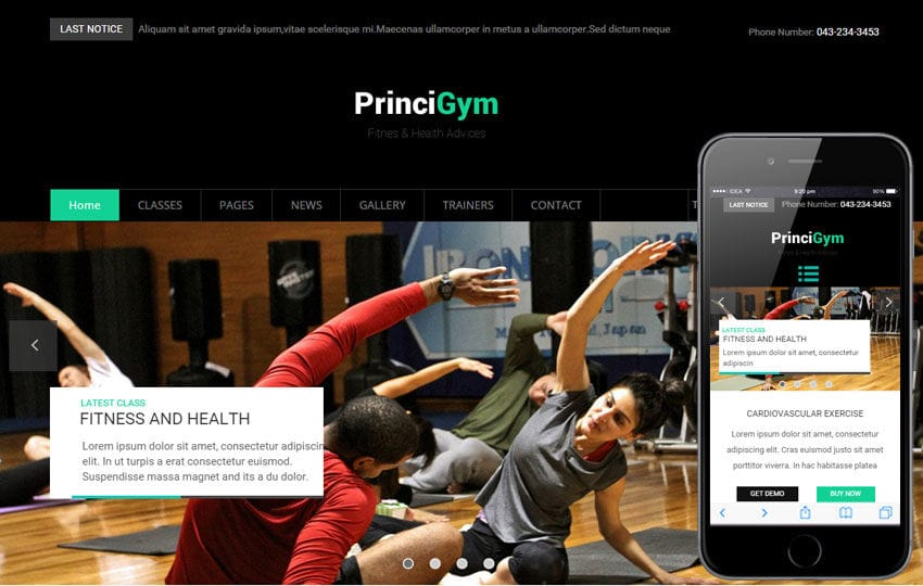 Princi Gym a Sports Category Flat Bootstrap Responsive Web Template Mobile website template Free