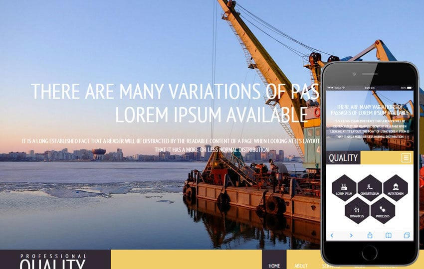 Quality a Industrial Category Flat Bootstrap Responsive Web Template Mobile website template Free