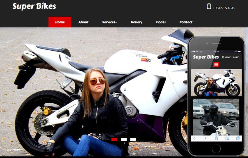 Super Bikes A Automobile Category Flat Bootstrap Responsive Web