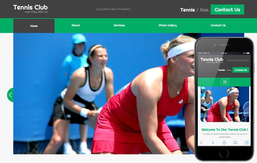Tennis Club a Sports Category Flat Bootstrap Responsive Web Template Mobile website template Free