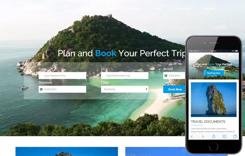 Travelo a Travel Guide Flat Bootstrap Responsive web template Mobile website template Free