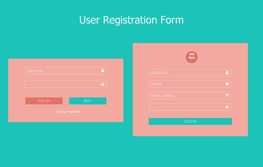 user registration forms responsive widget template by w3layouts