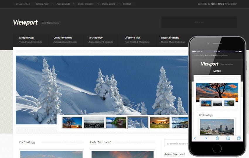 View Port a Entertainment Category Flat Bootstrap Responsive Web ...