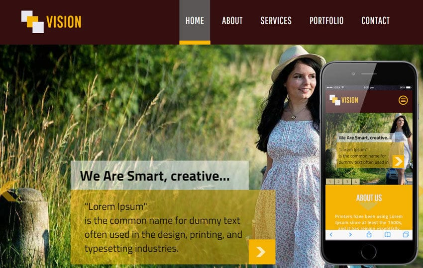 Vision a Personal Portfolio Flat Bootstrap Responsive Web Template Mobile website template Free