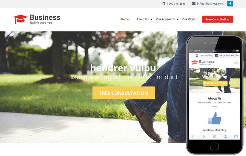 Agency Business a Singlepage Flat Bootstrap Responsive Web Template