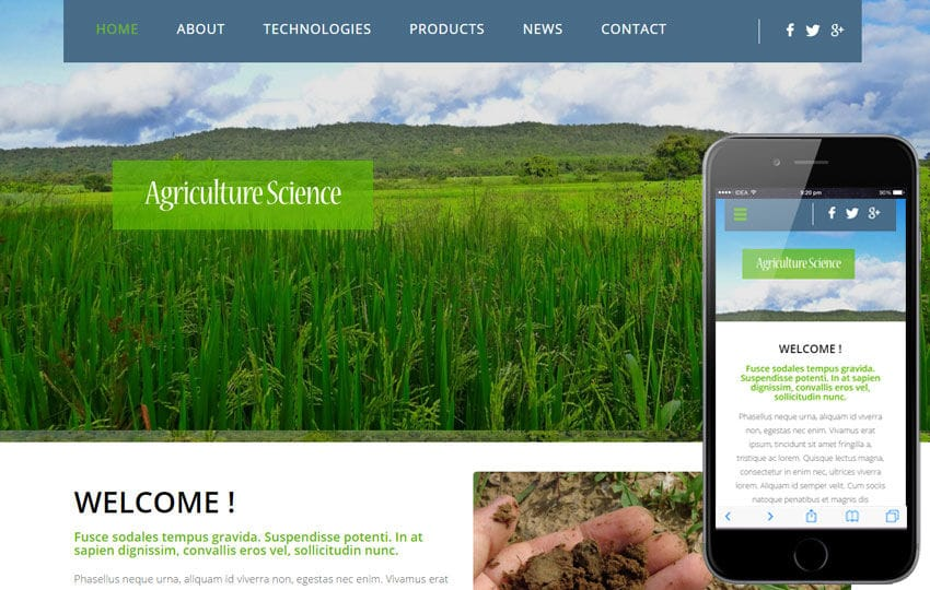 Agriculture Science a Agriculture Category Flat Bootstrap Responsive web template Mobile website template Free