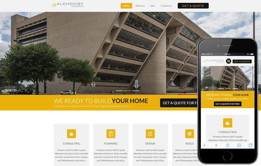 Alchemist a Real Estate Category Flat Bootstrap Responsive Web Template Mobile website template Free