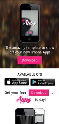 Mobile website Template Appz Single page Responsive website template