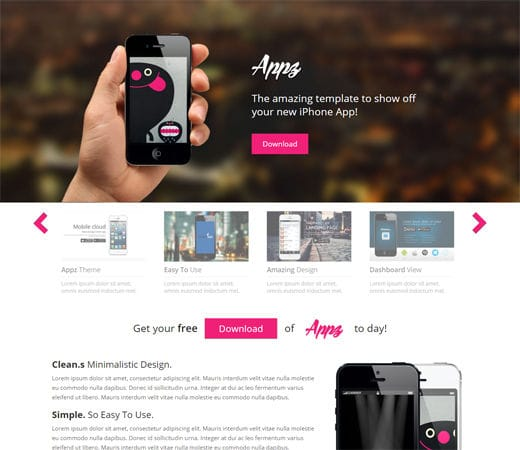 Free website template CSS HTML5 Appz Single page Responsive website template