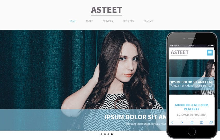 Asteet a Single Page Multipurpose Flat Bootstrap Responsive web template Mobile website template Free