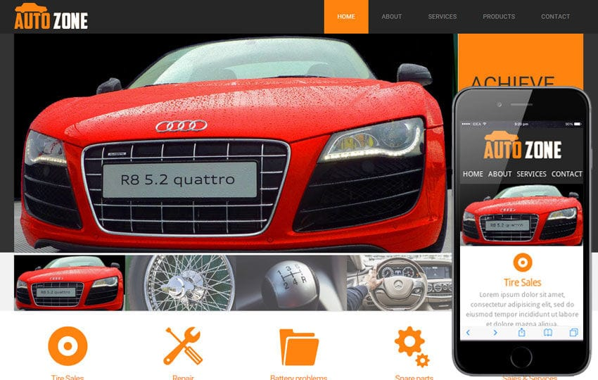 Autozone mobile website template by w3layouts autozone mobile website template maxwellsz