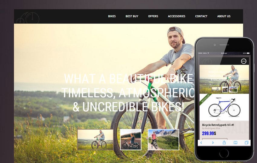 Bicycle Shop a Flat ECommerce Bootstrap Responsive Web Template Mobile website template Free