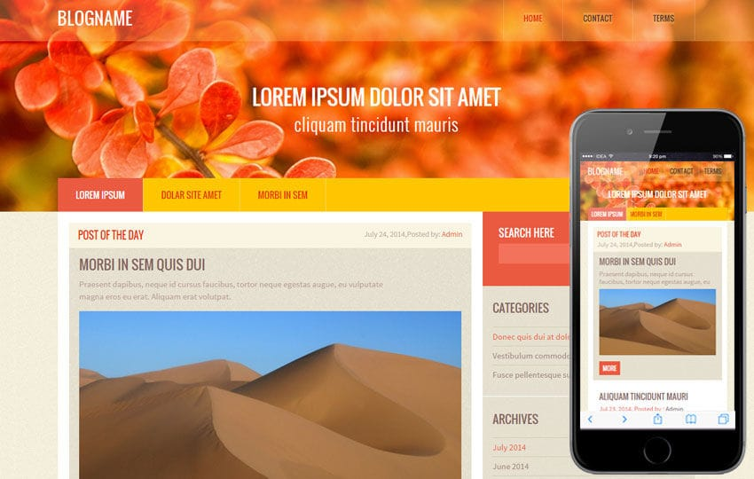 Blog Name a Blogging Category Flat Bootstrap Responsive Web Template Mobile website template Free