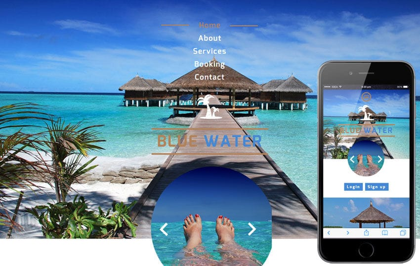 Blue Water a Hotel Category Flat Bootstrap Responsive Web Template