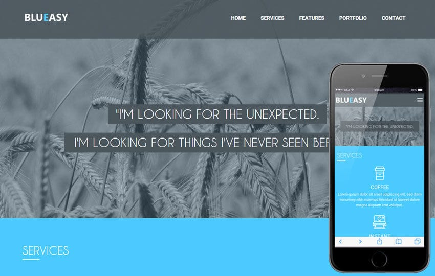 BluEasy a Corporate portfolio Flat Bootstrap Responsive web template Mobile website template Free