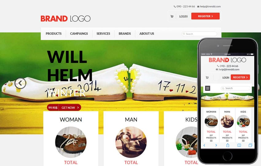 Brand Logo a Flat ECommerce Bootstrap Responsive Web Template Mobile website template Free