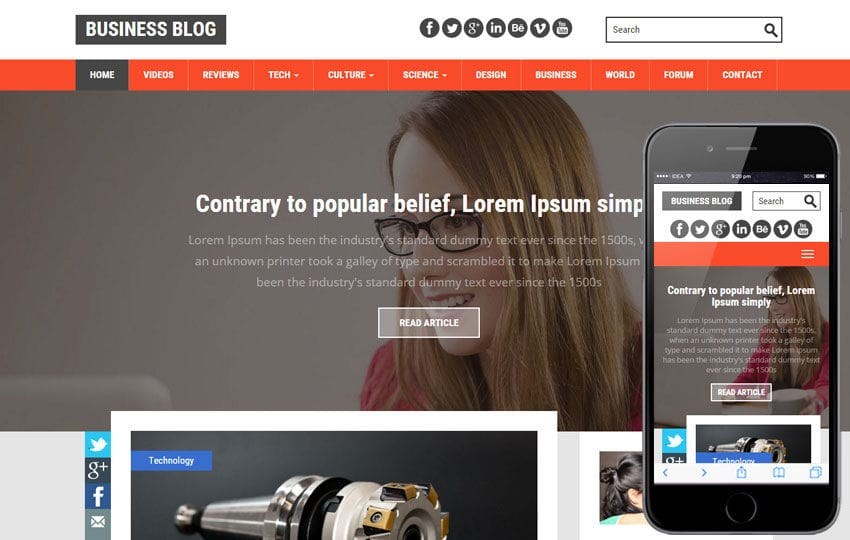 Blog mobile website templates business blog a blogging category flat bootstrap responsive web template mobile website template free accmission Gallery