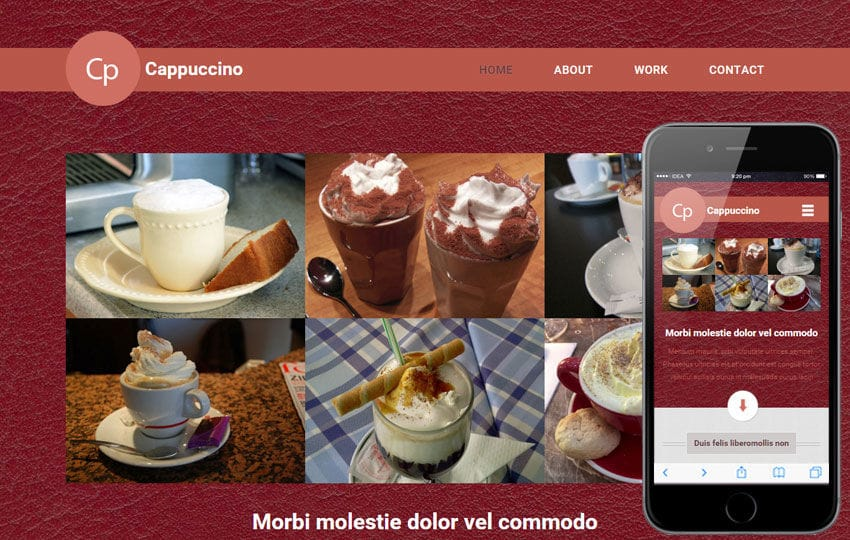 Cappuccino a Hotel Category Flat Bootstrap Responsive Web Template Mobile website template Free
