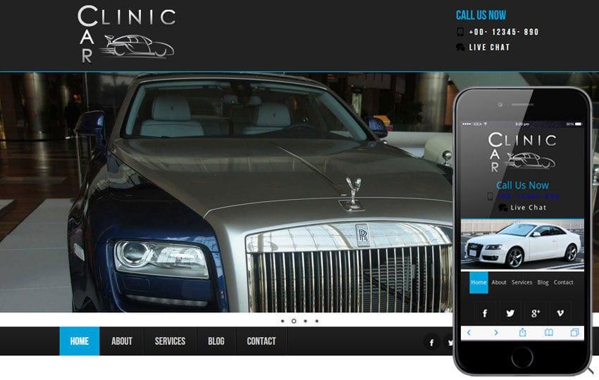 Car Clinic Automobile Mobile Website Template Mobile website template Free