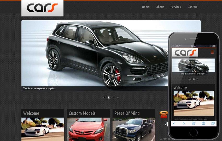 Cars Automobile Mobile Website Template Mobile website template Free