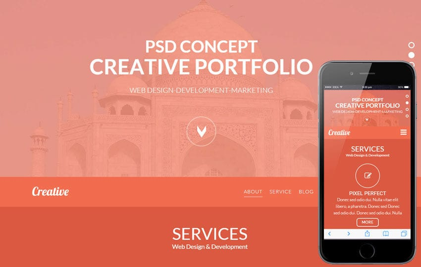 Creativeness a Corporate Business Flat Bootstrap Responsive Web Template Mobile website template Free