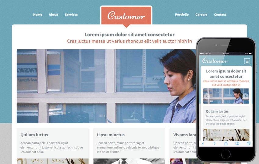 Customer a Corporate Portfolio Flat Bootstrap Responsive web template Mobile website template Free